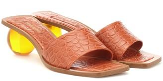 Cult Gaia Tao croc-effect leather sandals