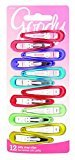 Goody Snap Hair Clips, Girls, Assorted Gel Colors, 12-count, Pack of 2 (1942260)
