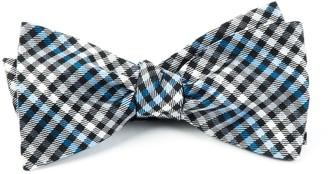 Tie Bar Daydream Plaid Black Bow Tie