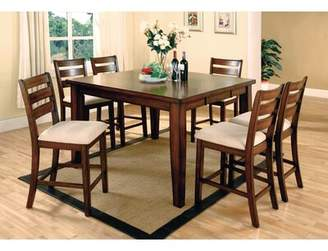 Hokku Designs Pristine 7 Piece Counter Height Solid Wood Dining Set