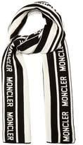 Moncler Logo-jacquard wool scarf