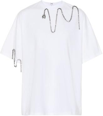 Christopher Kane Embellished cotton T-shirt