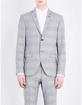 Tiger Of Sweden Jil Slim-fit Monochrome-print Wool Jacket