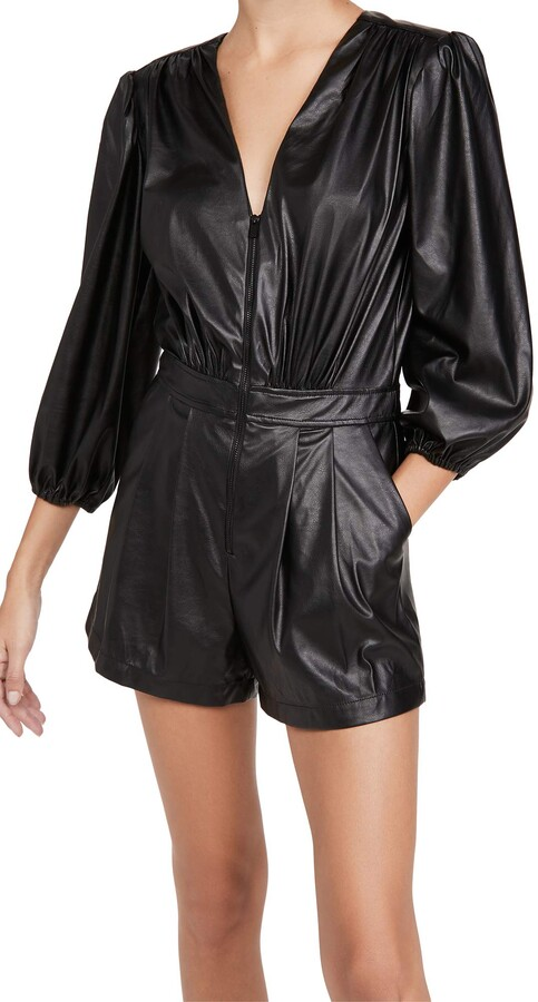 Thumbnail for your product : Ramy Brook Women's INES Faux Leather Romper