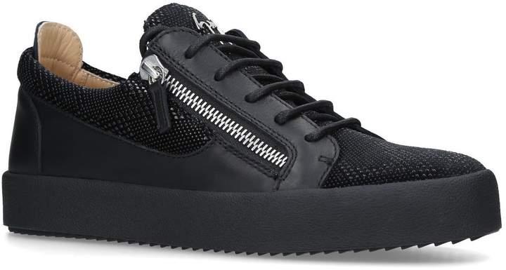 Giuseppe Zanotti Leather Snake Embossed Sneakers