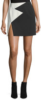 Thierry Mugler Bicolor Star Crepe Mini Skirt