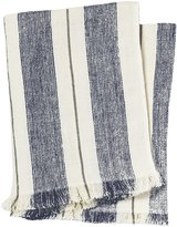 Pehr Designs Corsica Stripe Throw, Navy/Stone - Navy/Stone