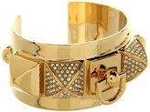Juicy Couture - Heavy Metal Pyramid Metal Cuff Bracelet (Gold) - Jewelry