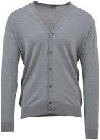 John Smedley Sea Island Cotton Light Grey Cardigan