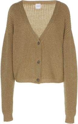 Madeleine Thompson Perseus Lurex Cashmere And Wool-Knit Cardigan