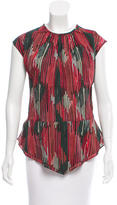 Maiyet Printed Silk Top