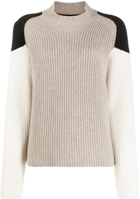 Chinti and Parker Panelled Cashmere Jumper