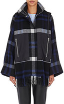 Cédric Charlier Women's Plaid Cape Coat-BLACK