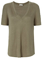 A.L.C. Linen V Neck Tee: Army