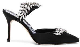 Thumbnail for your product : Manolo Blahnik Satin Lurum 90 Heels in Black