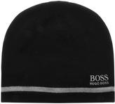 BOSS GREEN Reversible Beanie Hat Navy