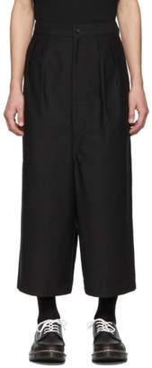 Comme des Garcons Homme Black Cotton Back Trousers