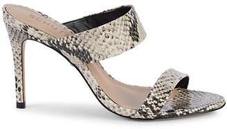 Schutz Leia Leather Stiletto Sandals