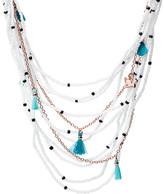 Fossil Fringe Beaded Multi-Strand Necklace