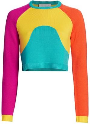 Victor Glemaud Intarsia Colorblock Sweater