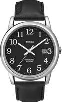 Timex Men's Easy Reader Black Leather Strap Watch