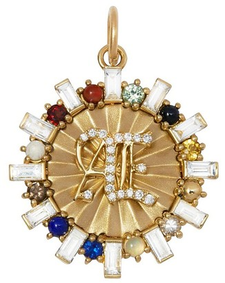 Foundrae Aether Badge Element Medallion - Yellow Gold