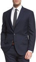 Brunello Cucinelli Pied-de-Poule Mini Houndstooth Wool Suit, Navy