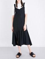 Sportmax Plutone cotton-poplin midi dress
