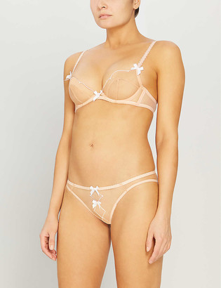 Agent Provocateur Lorna soft-cup embroidered mesh underwired bra