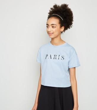 New Look Girls Paris Slogan T-Shirt