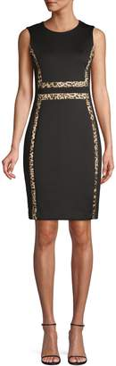 Calvin Klein Animal-Print Colourblock Dress