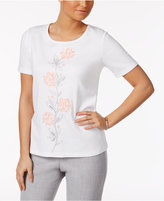 Alfred Dunner Rose Hill Beaded Top