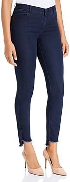 Lafayette 148 New York Mercer Step Hem Ankle Jeans in Indigo