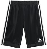 adidas Black & White Triple-Up Shorts - Girls