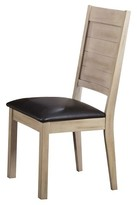 Acme Ramona Side Dining Chair (Set of 2) - Dark Walnut and Antique Beige