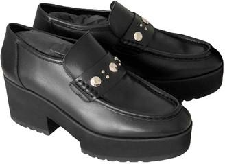 Maje Black Leather Flats