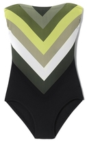 Vince Camuto Chevron-striped One-piece Swimsuit