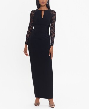 Betsy & Adam Lace-Sleeve Gown