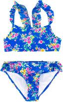 Ralph Lauren floral ruffled bikini - kids - Nylon/Spandex/Elastane/Polyamide-8 - 2 yrs