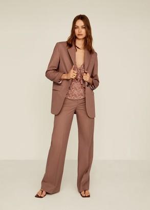 MANGO Structured suit blazer pink - S - Women