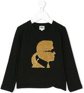 Karl Lagerfeld sequin graphic top - kids - Cotton/Spandex/Elastane - 4 yrs