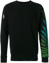 Marcelo Burlon County of Milan feather print sweatshirt - men - Cotton - XS