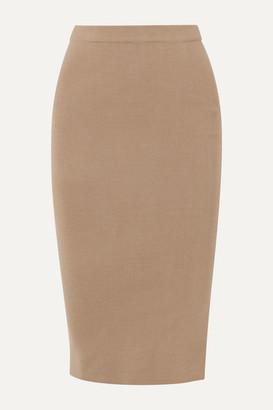 Joseph Silk-blend Midi Skirt - Camel