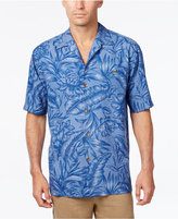 Tommy Bahama Men's Big & Tall Cayo Palms Floral-Print Silk Short-Sleeve Shirt