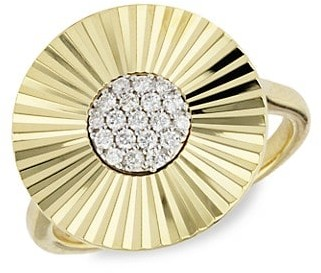 Phillips House Aura Large 14K Yellow Gold Diamond Pave Ring