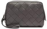 Bottega Veneta - Intrecciato Leather Wash Bag - Mens - Black