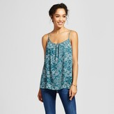 Merona Women's Printed Woven Cami Hedge Green