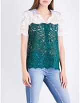 Sandro Panelled lace shirt