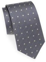 Saint Laurent Dotted Silk Tie