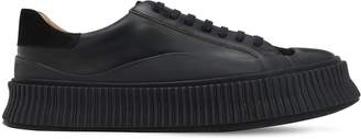 Jil Sander Low Top Leather Sneakers